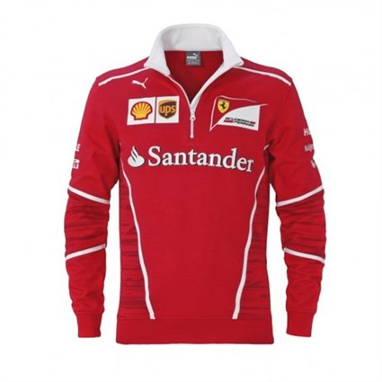 Ferrari 2017 Team 1/2 Zip Sweat Red