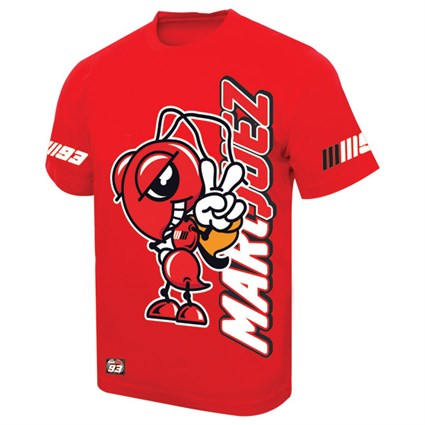 Marc Marquez logo T-shirt red