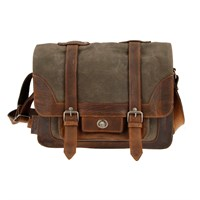 BSA Sunbeam Full Grain Leather And Canvas Ladies Shoulder Bag