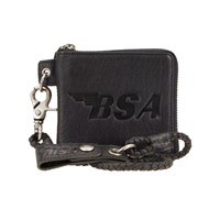 BSA Firebird Full Grain Leather Wallet - Black
