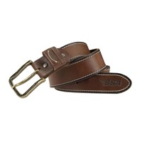 BSA 5002 Full Grain Leather Belt - Brown/Brass