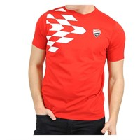 Ducati Corse 2016 Grid T-Shirt - Red