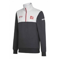 Haas Replica Team Half Zip sweat - Grey/White