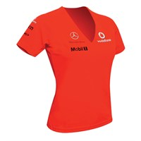 Vodafone McLaren Mercedes ladies Victory T-shirt red