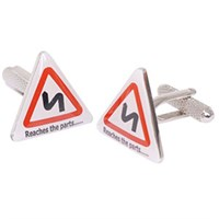 Reaches The Parts Road Sign Cufflinks