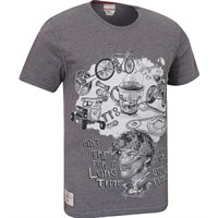 Red Torpedo Guy Martin Good Times T-Shirt - Graphite