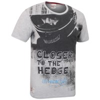 Red Torpedo Guy Martin Closer To The Hedge T-Shirt - Grey