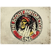 Retro Legends Scout Motorcycle metal sign