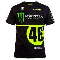 Rossi Vr46 2016 Monster Replica T-Shirt - Black/Yellow