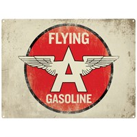 Retro Legends Flying A Gasoline metal sign