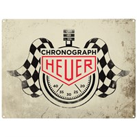 Retro Legends Chronograph Heuer metal sign