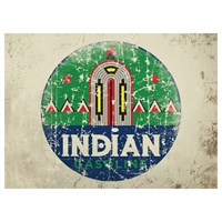 Retro Legends Indian Gasoline metal sign