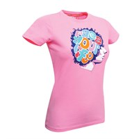 Marco Simoncelli ladies 'Race Your Life' T-shirt pink