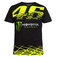 VR46 2016 Monster Monza T-Shirt - Black/Yellow
