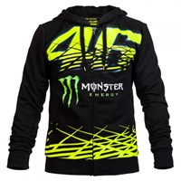 VR46 2016 Monster Monza fleece - Black/Yellow