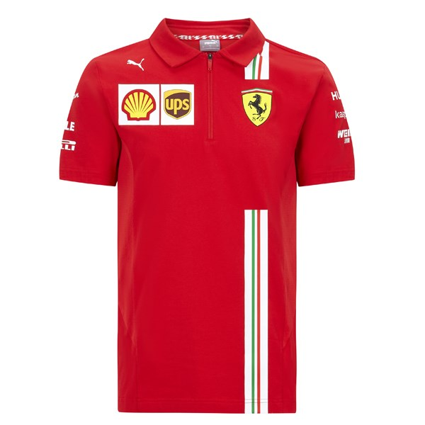 Scuderia Ferrari 2020 Team polo shirt in red