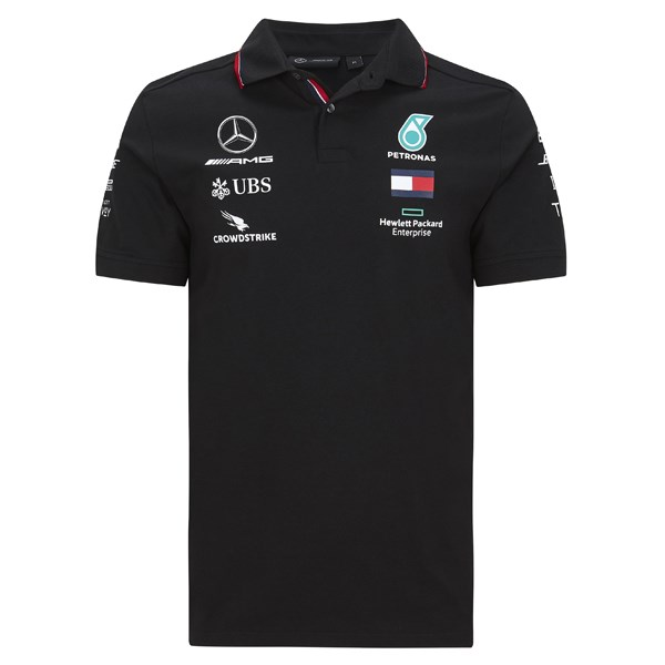 Mercedes-AMG Petronas Motorsport 2020 Team polo shirt in black