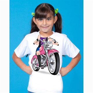 Little Tees Girls Biker T-shirtAlternative Image1