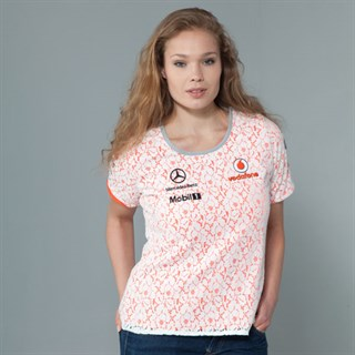 Vodafone McLaren Mercedes ladies lace topAlternative Image2