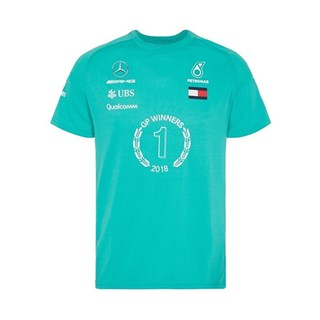 Mercedes AMG 2018 Hamilton Race Winning T shirt and Flat Brim Cap BundleAlternative Image1