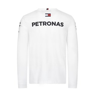 Mercedes-AMG Petronas Motorsport 2019 long sleeve Driver T-shirt in whiteAlternative Image1