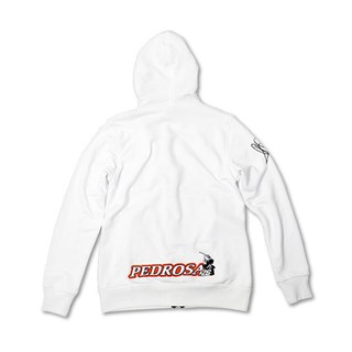 Dani Pedrosa ladies zip hoodie in whiteAlternative Image1