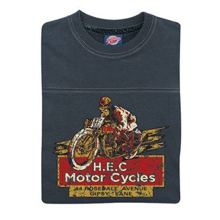 Retro Legends H.E.C Motor Cycles T-sweat in blueAlternative Image1