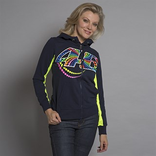 Rossi 46 ladies zip hoodie in blueAlternative Image2