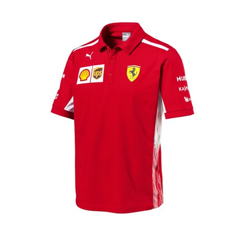 fer collar ferrari racing official shirt sf scuderia polo motorsport puma team products shirts red