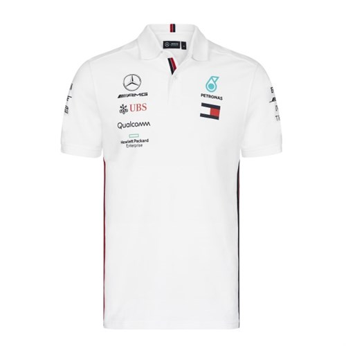 de70314cd79 Mercedes-AMG Petronas Motorsport 2019 polo shirt in white (MRC505)