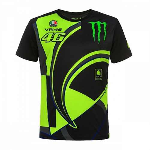 1c7ef5cb3ce Valentino Rossi VR46 2019 Monster T-shirt in black (VAL1601)