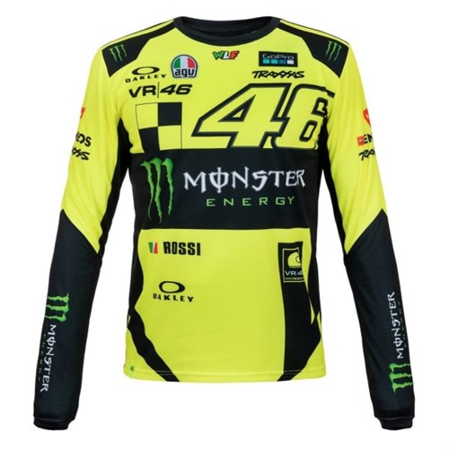 b034ed38 Valentino Rossi VR46 2019 Monster long sleeve T-shirt in yellow (VAL1602)
