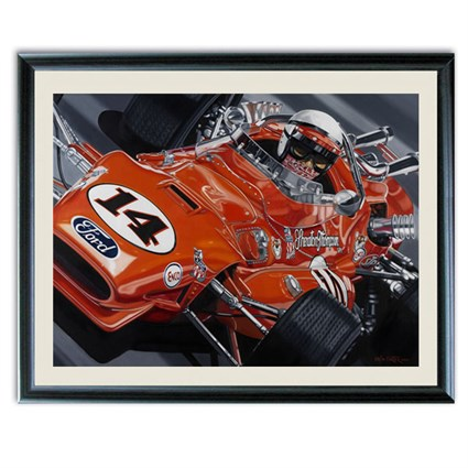 Colin Carter 'Super Tex' print signed