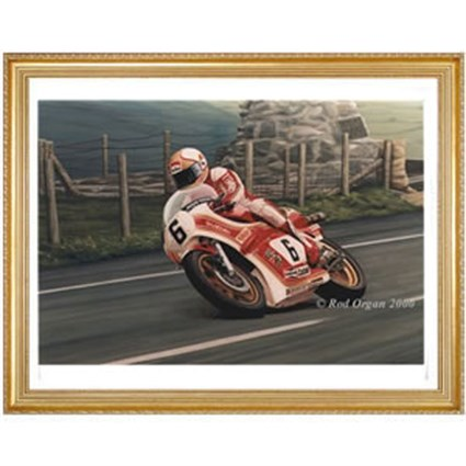 Memorial - Mike Hailwood' Print