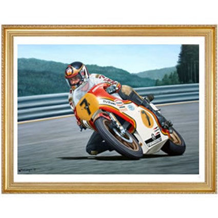 Sheene At Spa 1977 Print