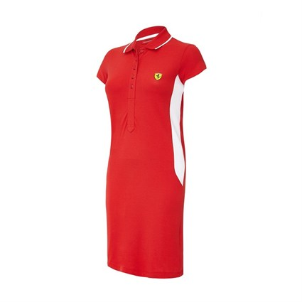 Ferrari Ladies Polo Dress Red