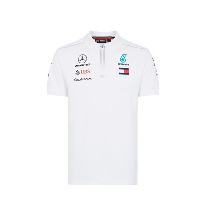Mercedes AMG 2018 Team Polo Shirt White