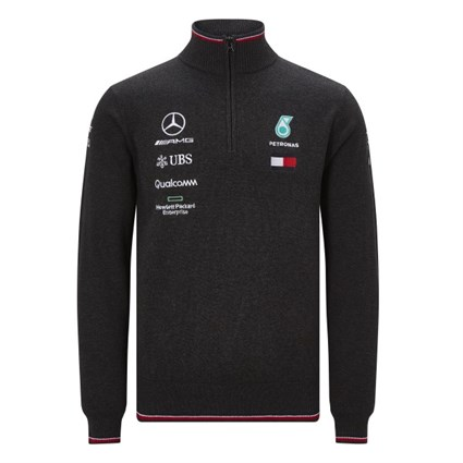 Mercedes-AMG Petronas Motorsport 2019 half zip jumper in black