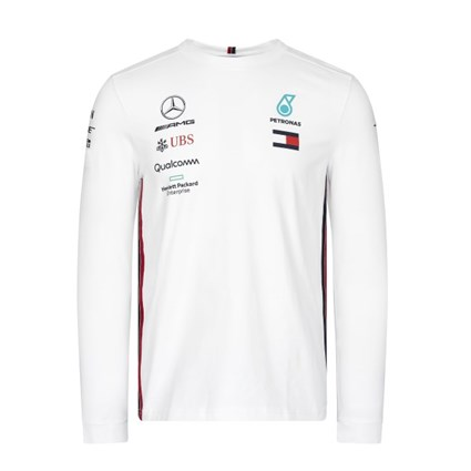 Mercedes-AMG Petronas Motorsport 2019 long sleeve Driver T-shirt in white