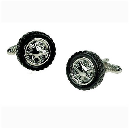 Black Tyre Cufflinks