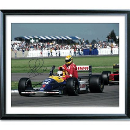 Signed 'Taxi For Senna' Litho print
