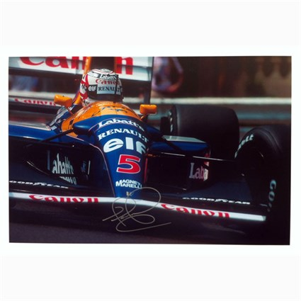 Williams Close Up print - Nigel Mansell signed