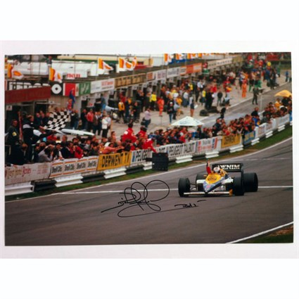 First Win Williams print - Nigel Mansell signed
