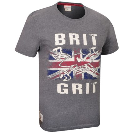 Red Torpedo Guy Martin Brit N Grit Graphite T-shirt