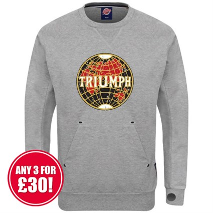 Retro Legends Triumph sweatshirt in grey
