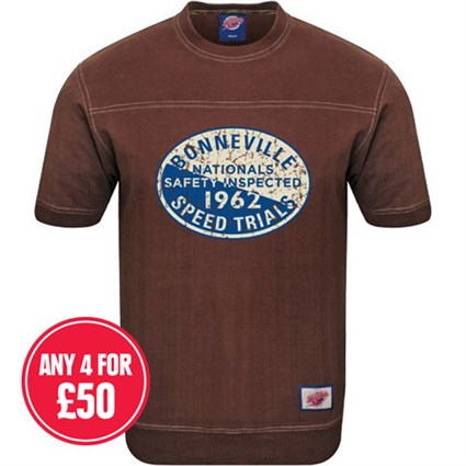 Retro Legends Bonneville 1962 T-sweat in brown