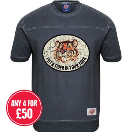 Retro Legends Tiger in Tank T-sweat in blue