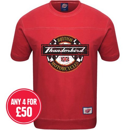 Retro Legends Classic Thunderbird T-sweat in red