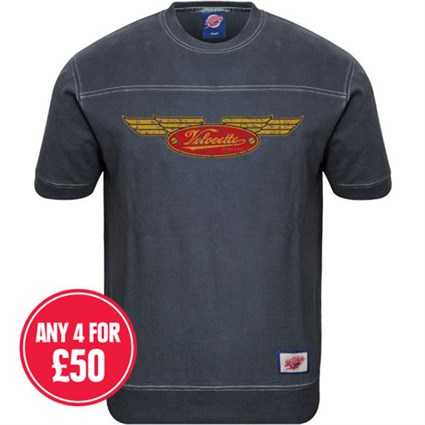 Retro Legends Classic Velocette T-sweat in blue