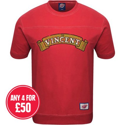 Retro Legends Classic Vincent T-sweat in red
